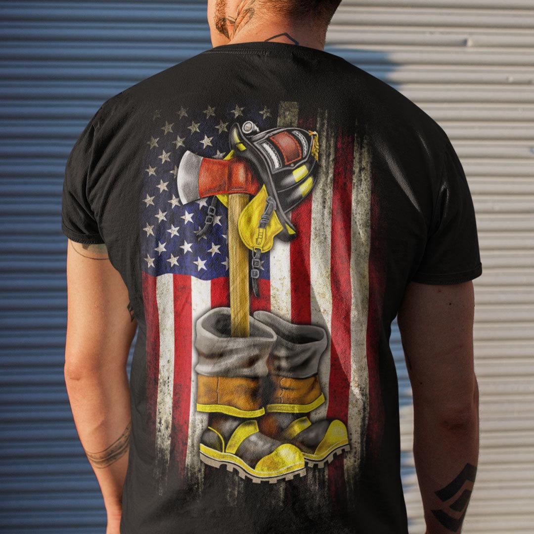 Firefighter Axe Helmet Shirt