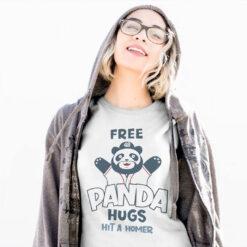 Free Panda Hugs Braves Shirt