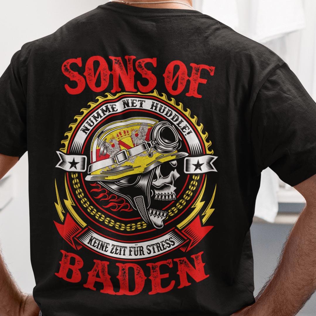 Funny Biker Skull Sons Of Baden Shirt