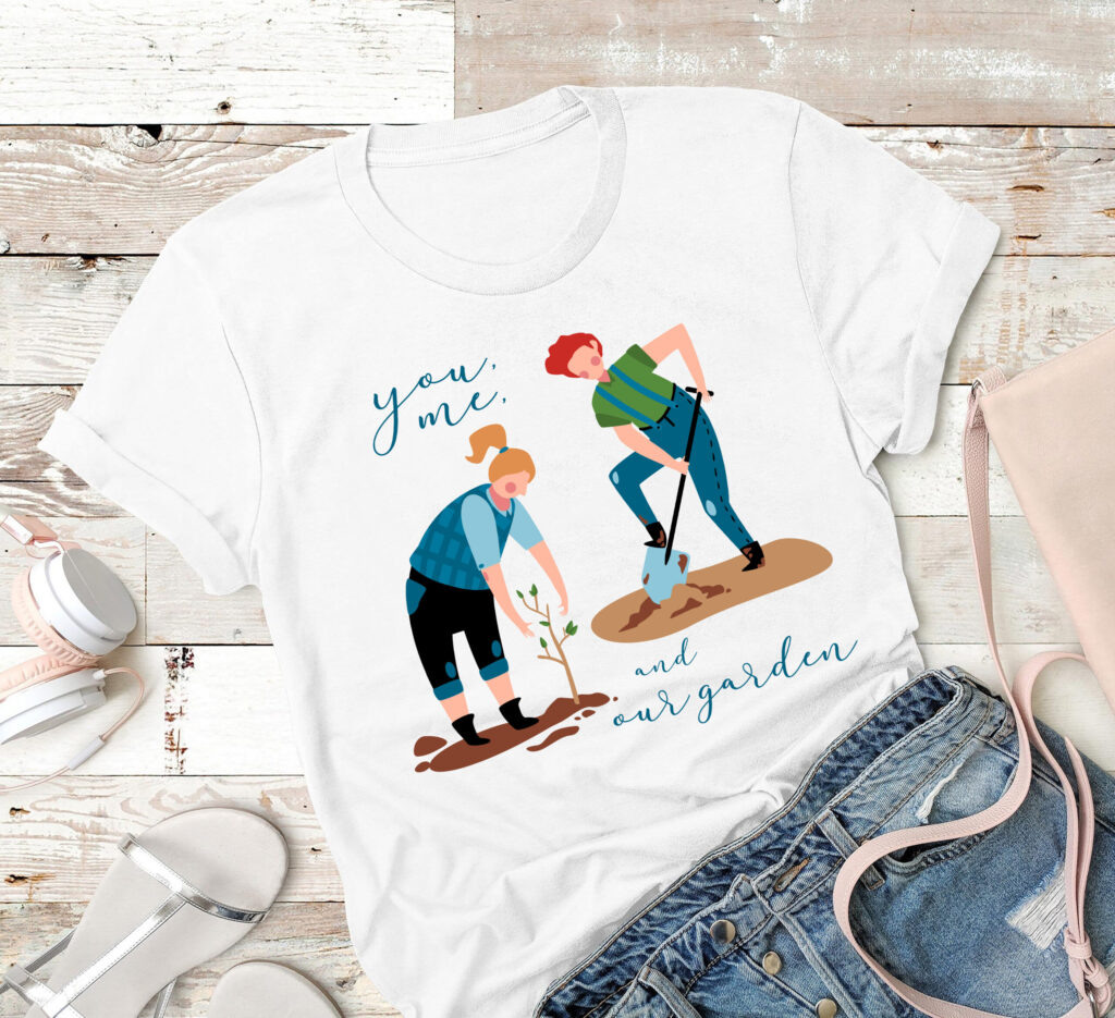 You Me And Our Garden Shirt - what to get parents on your wedding day
