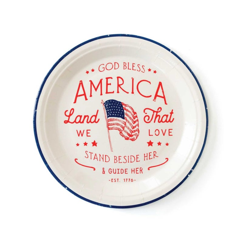 God bless america plate independence day gifts for brother