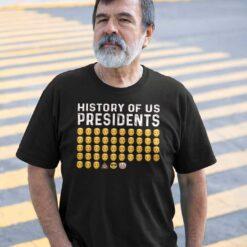 History Of US Presidents T Shirt Pro Trump Joe Biden Clown Emoji