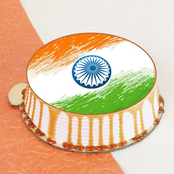 Indian Flag Theme Cake- best Independence Day gift for mom