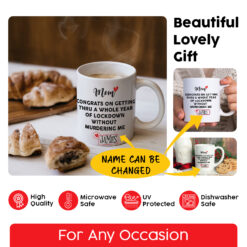 Personalized Mothers Day Quarantine Mug