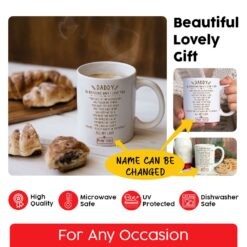 Personalized Daddy 10 Reasons Why I Love You Mug