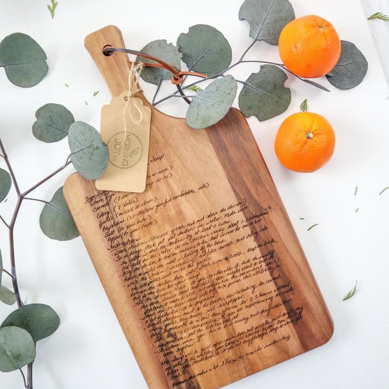 Recipe Cutting Board- best birthday gifts for parents