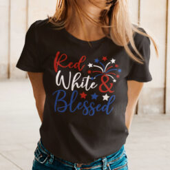 Red White And Blessed 4th Of July Shirt