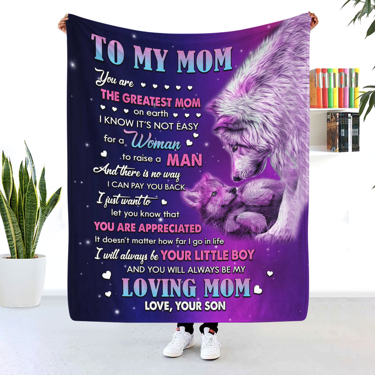 To My Mom You Are The Greatest Mom On Earth Blanket