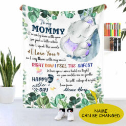 To My Mommy Happy First Mother's Day Personalized Blanket