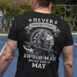 Viking Warrior Shirt An Old Man Born In May