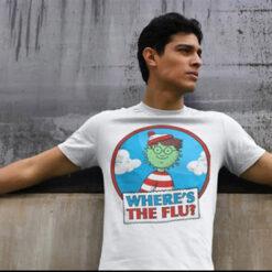 Where's Waldo T Shirt Where's Flu Covid-19