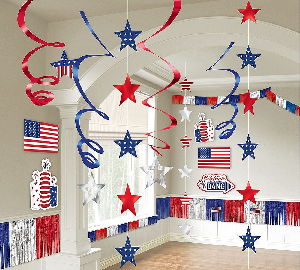 interior decoration for the Fourth of July