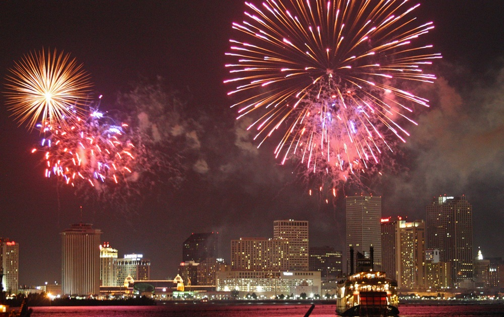 New Orleans - where to watch fireworks on Independence Day
