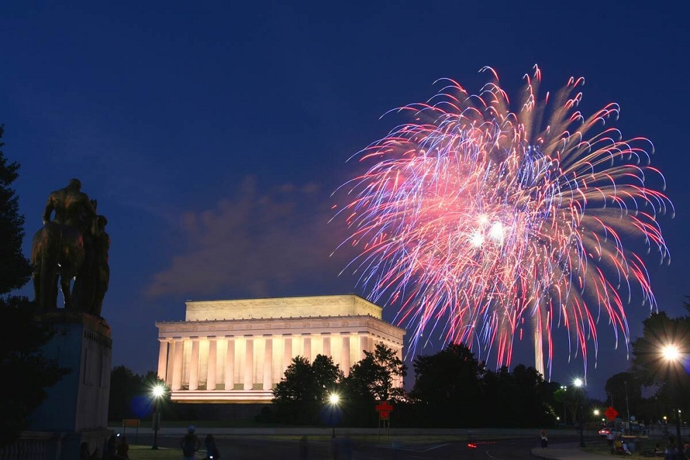 Washington - where to watch fireworks on Independence Day
