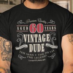 60th Birthday Shirt The Men The Myth The Legend