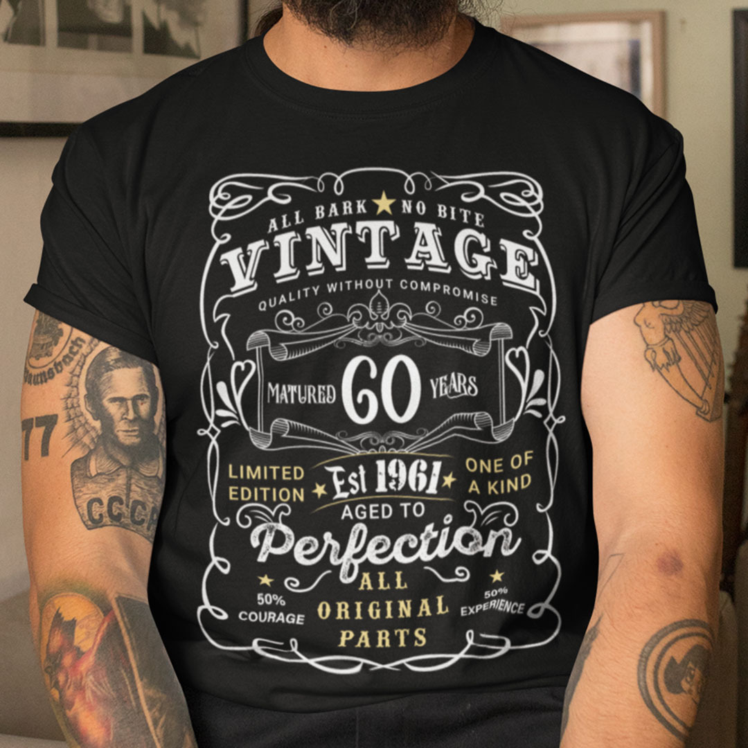 60th Birthday T Shirt Limited Edition Aged To Perfection