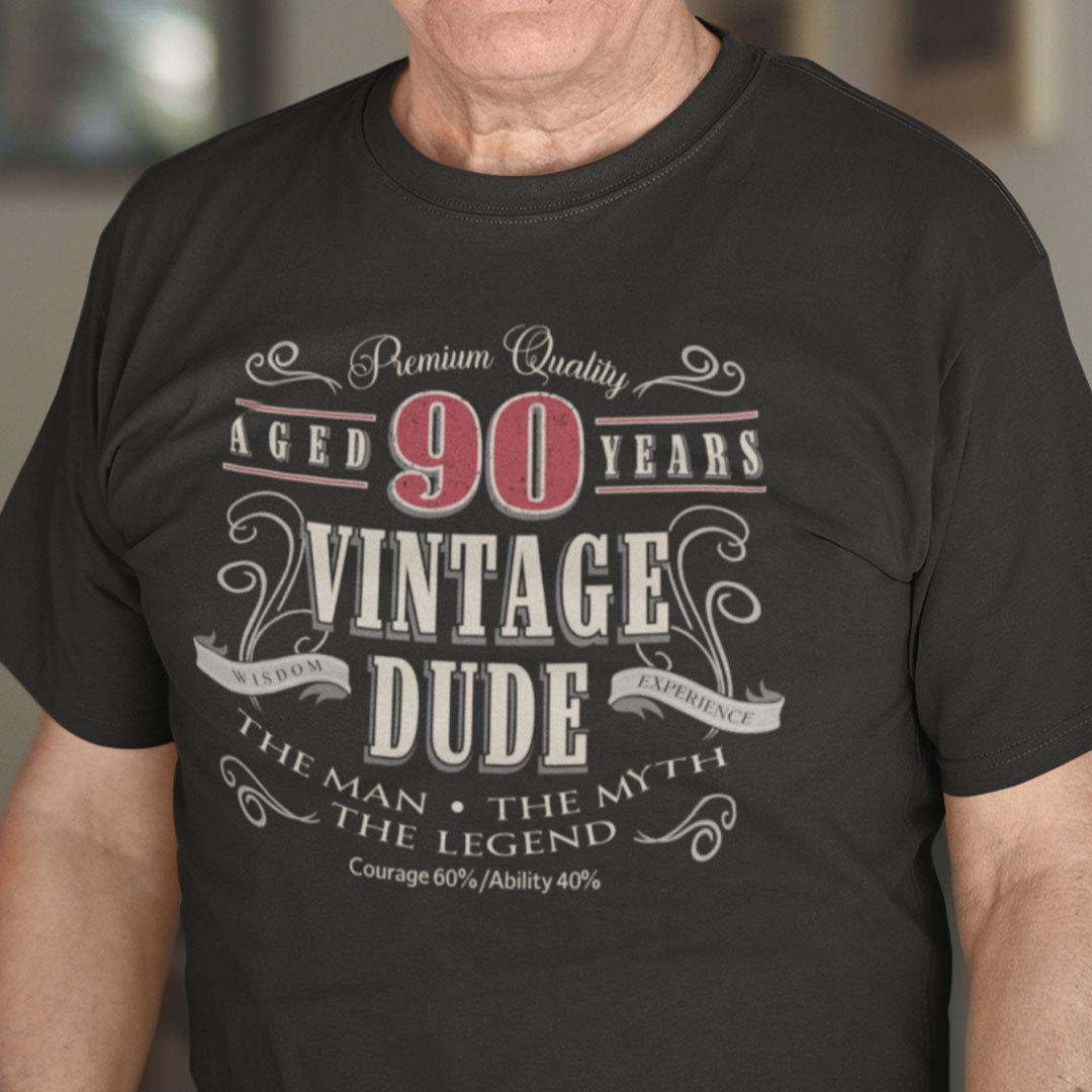 90th Birthday Shirt The Men The Myth The Legend