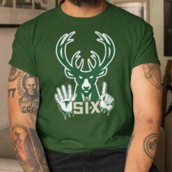 Bucks In Six Shirt Milwaukee Bucks
