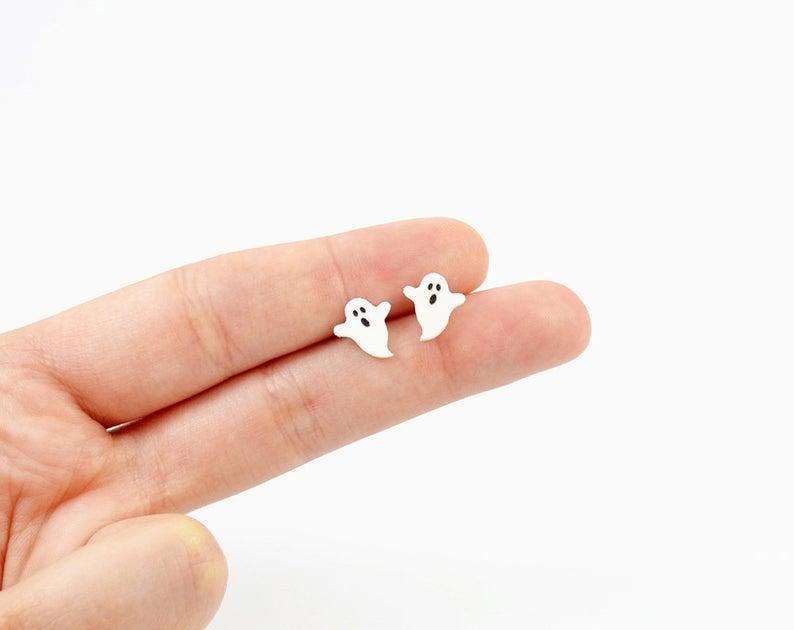 Ghost Earrings Ghost Stud Earrings- best Halloween gift for grandma.