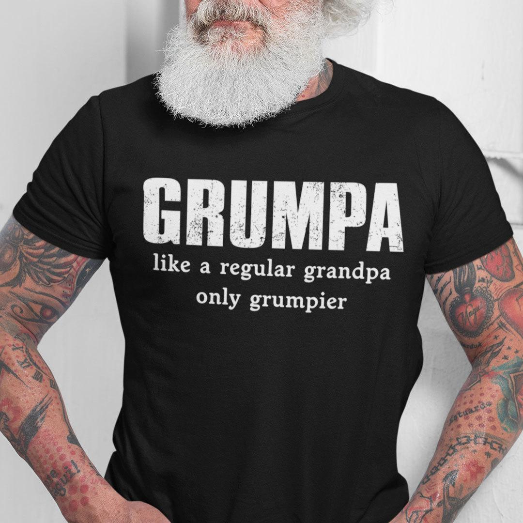 Grumpa Like A Regular Grandpa Only Grumpier Grumpa T Shirt