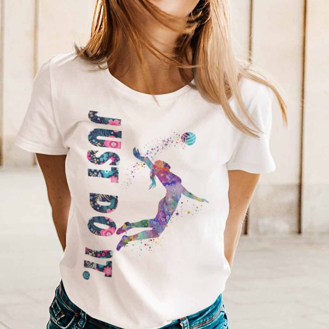 Just Do It Volleyball Shirt