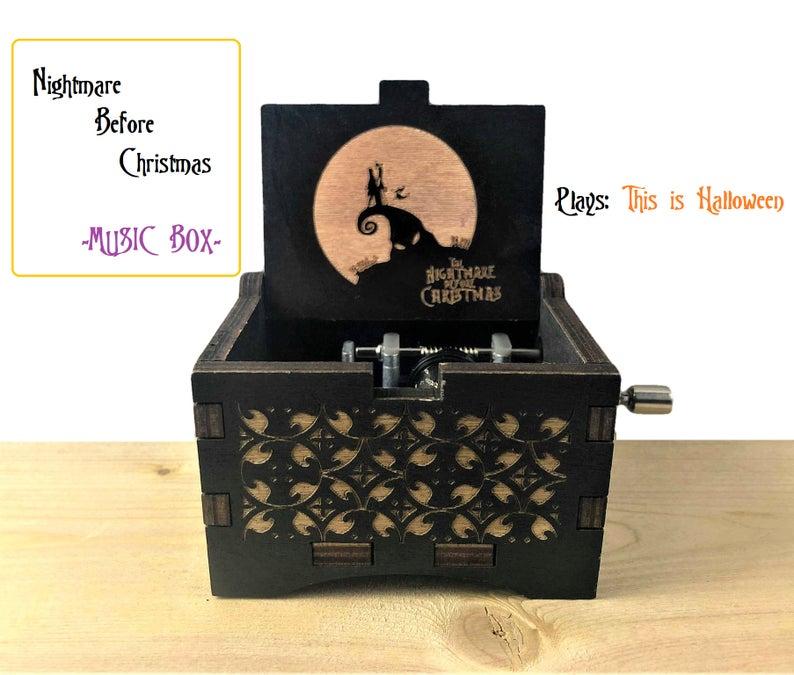 Nightmare Before Christmas Music Box- best Halloween gift ideas for teachers.