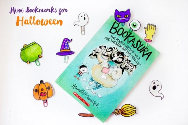 Non-Candy Halloween Mini Bookmark Treats
