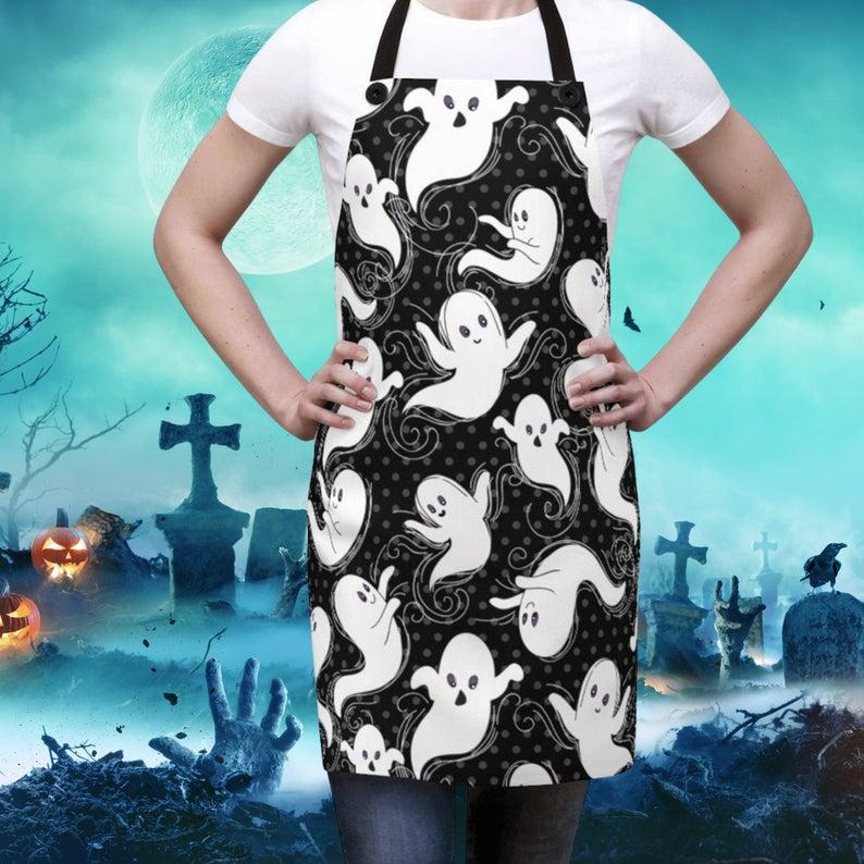 Spooky Halloween Horror Ghost Apron- Best Halloween Gift Under $20