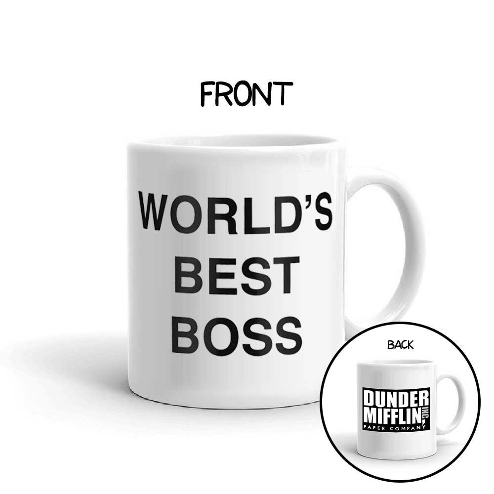 The Bold Type Dunder Mifflin Mug World's Best Boss