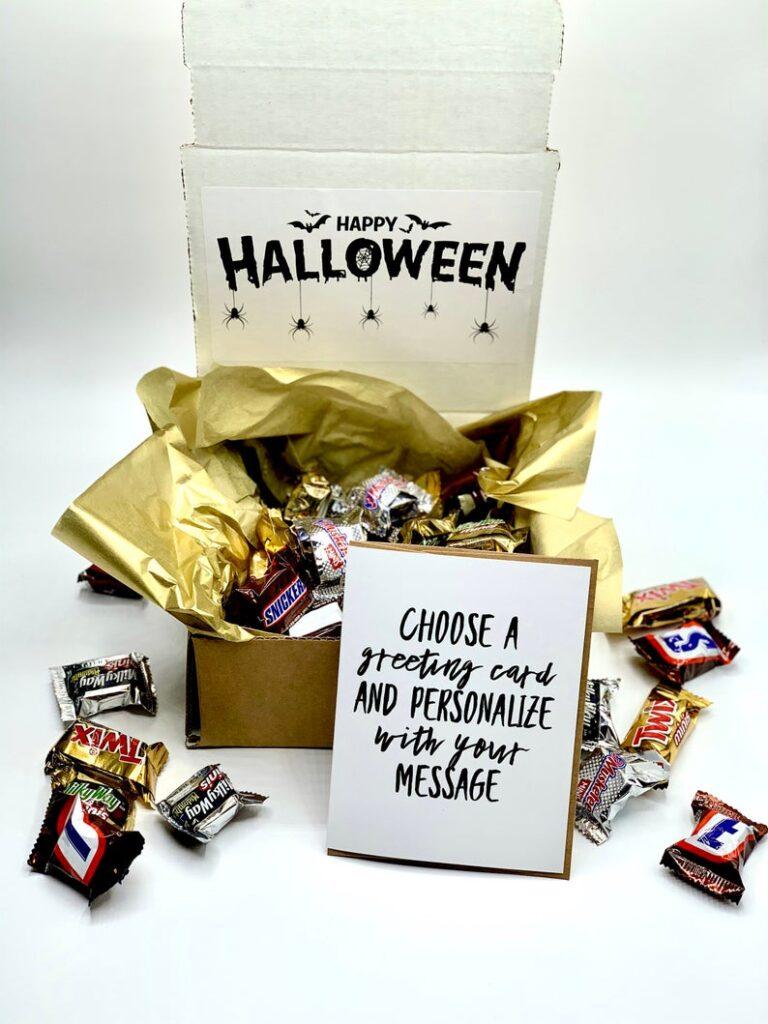 Treat Boxes Happy Halloween- best Halloween gift ideas for teachers.