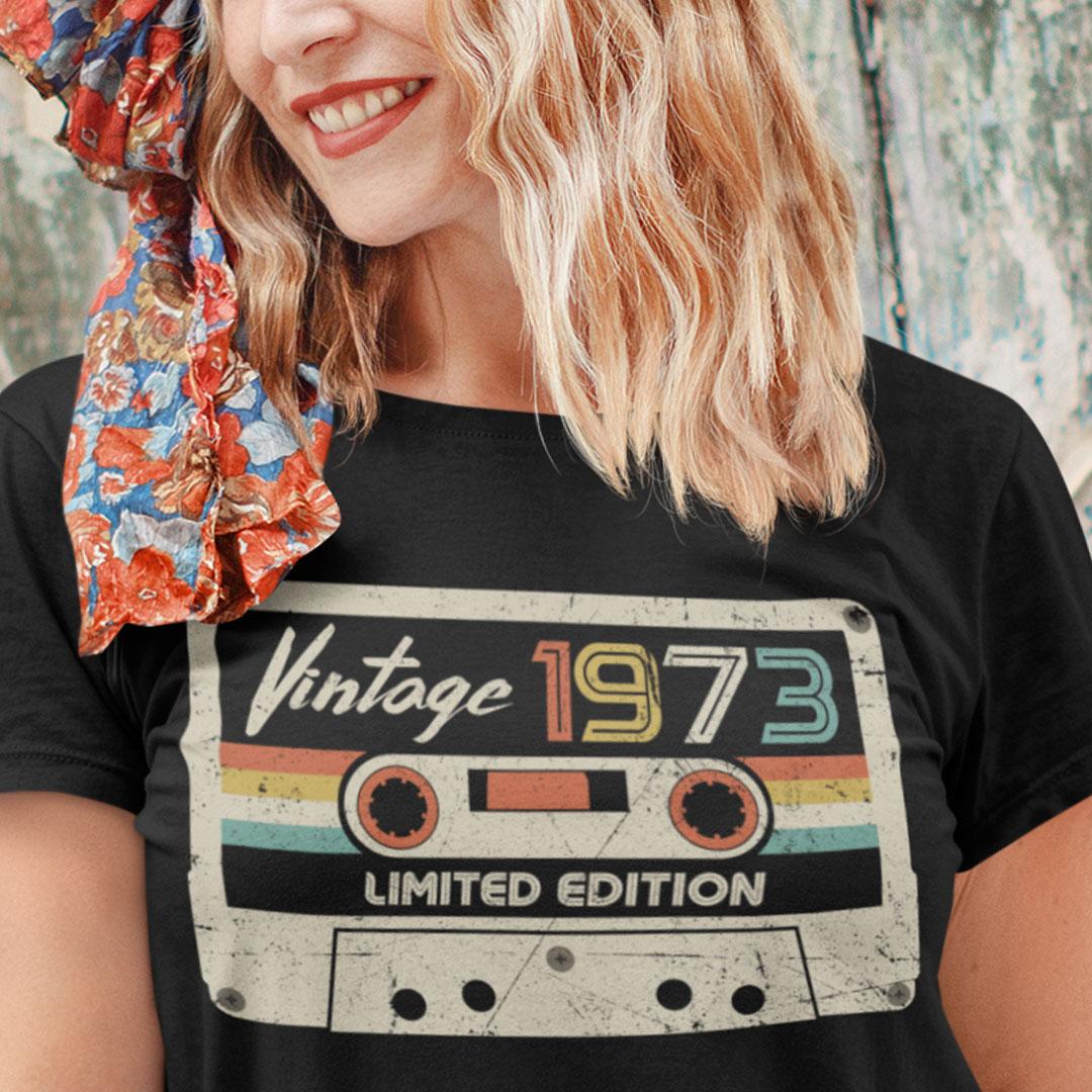 Vintage 1973 T Shirt Vintage 1973 Limited Edition