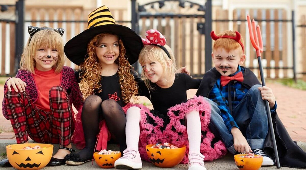 Kids join in trick-or-treating in the United States