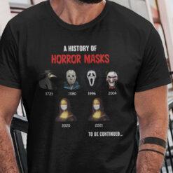 A History Of Horror Masks Shirt Face Masks