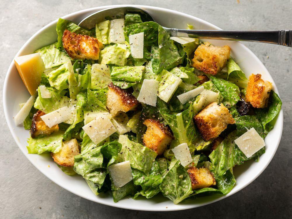 Caesar Salad- best green salad for Thanksgiving