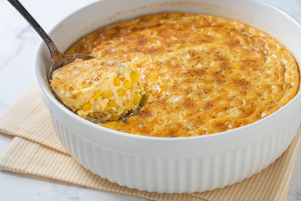 Corn Soufflé- good corn dishes for Thanksgiving