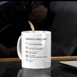 Corporate Email Lingo Mug Coworker Gag Gift