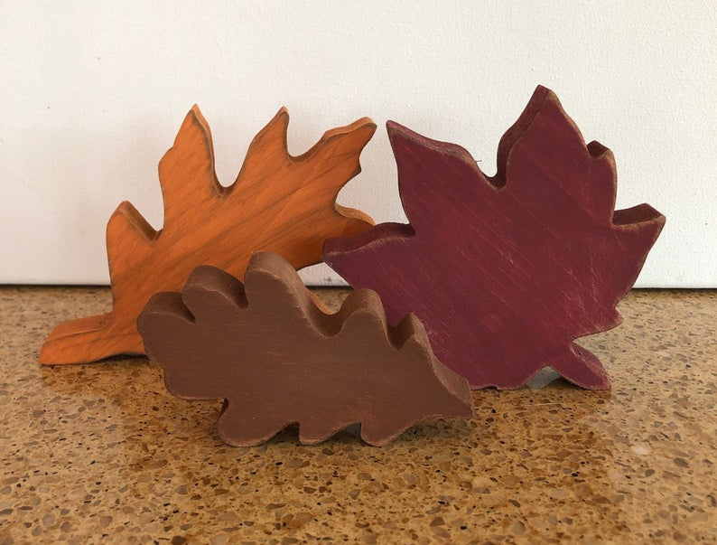 Fall Wooden Leaves