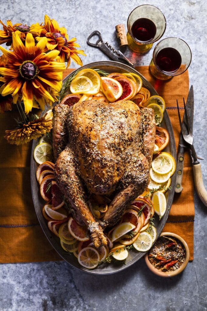 Grilled Citrus-and-Spice Turkey- best roast recipe for Thanksgiving