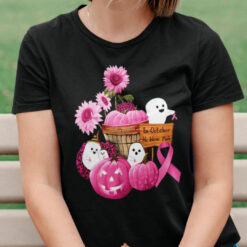 Halloween In October We Wear Pink Shirt Breast Cancer Awareness