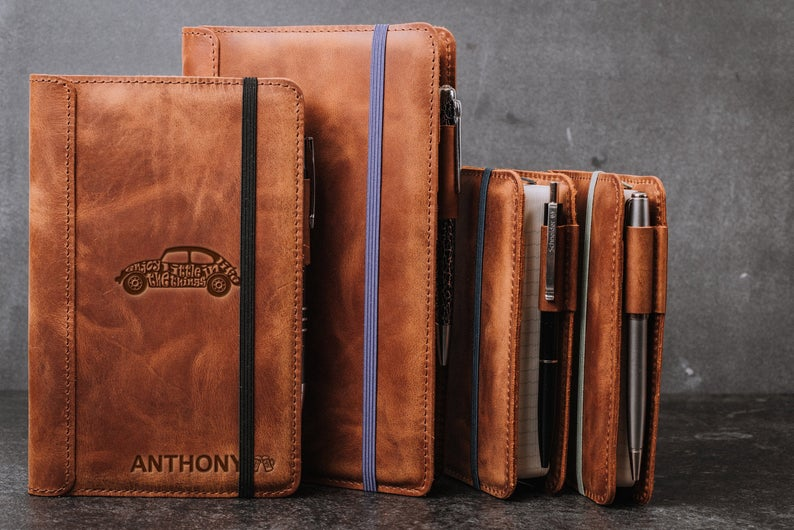 Leather pocket notebooks - Thanksgiving Gift Ideas For Clients