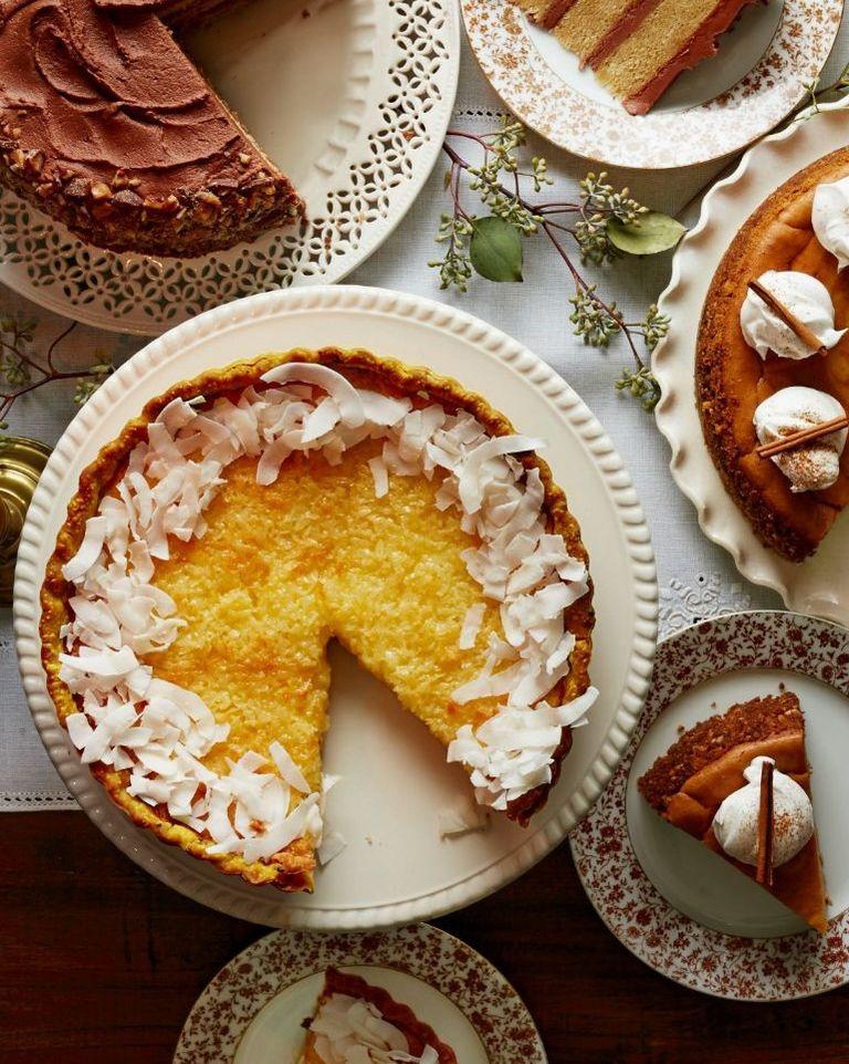 Lemon-Coconut Tart- cool Thanksgiving desserts