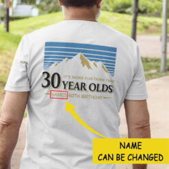 Personalized More Fun Than Two 30 Year Olds Shirt 60th Birthday