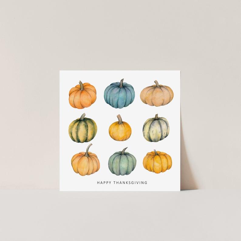 Thanksgiving pumpkins card - Thanksgiving gift ideas for friends