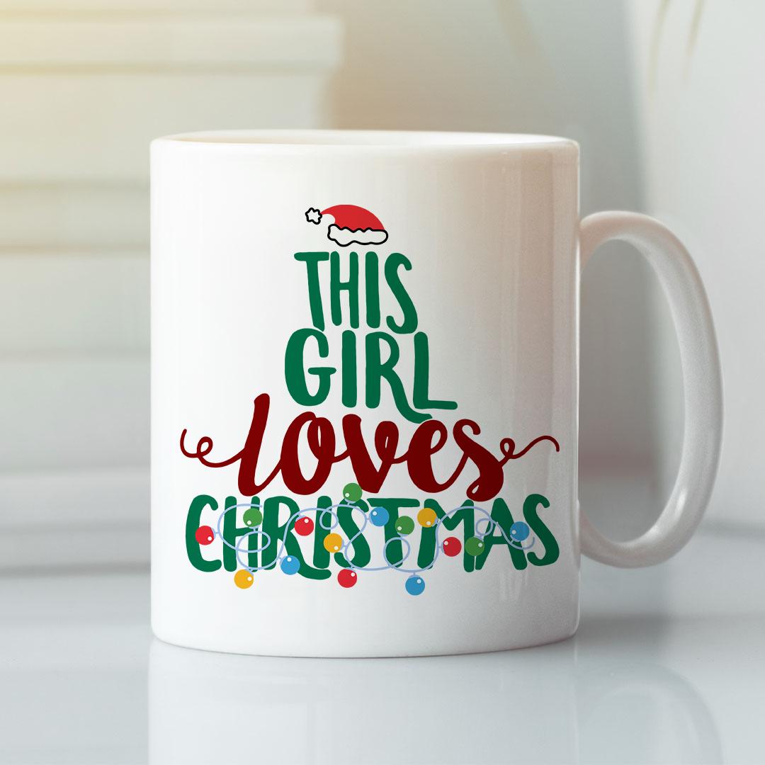 This Girl Loves Christmas Mug