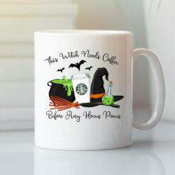 This Witch Needs Coffee Before Any Hocus Pocus Mug