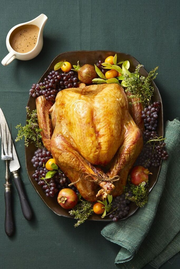 Thyme-Roasted Turkey- cool food ideas for Thanksgiving