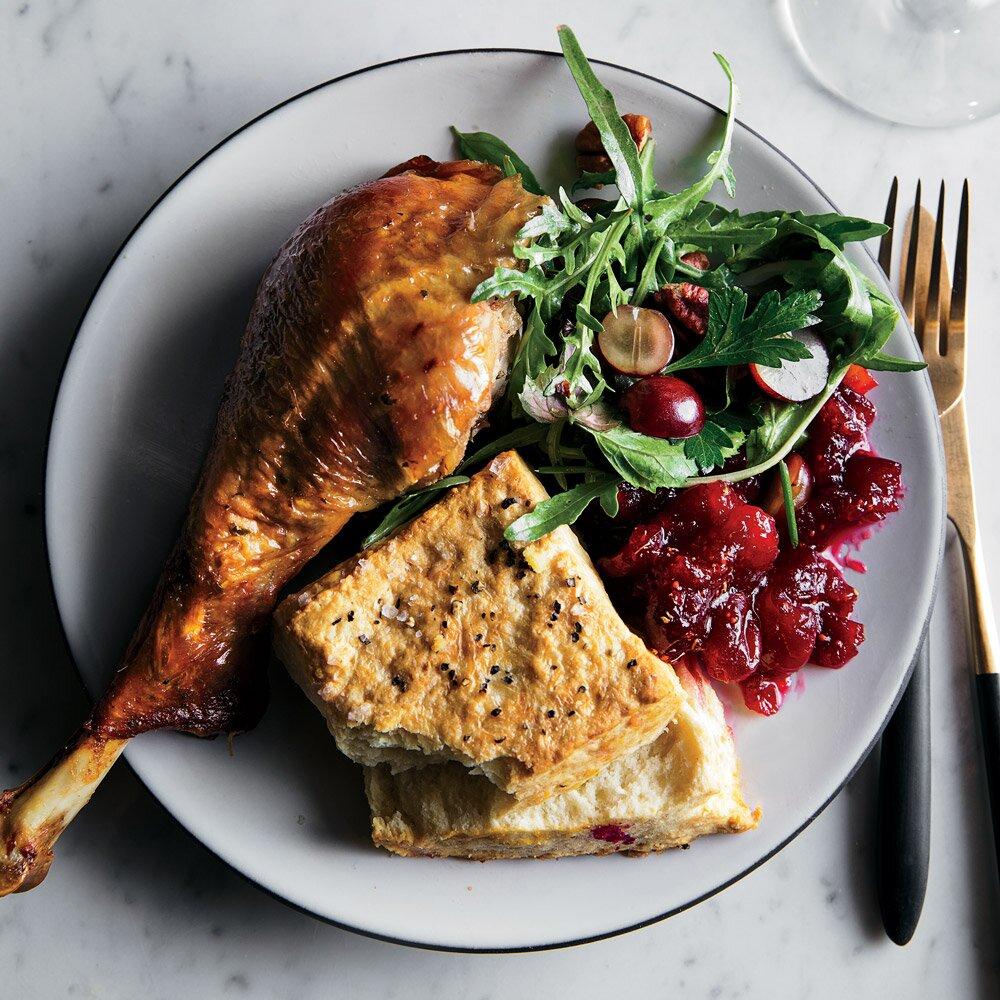 Vinegar-Brined Roast Turkey-best roast turkey recipe for Thanksgiving