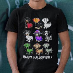 Happy Hallowiener Wiener Dog Shirt Dachshund Lover