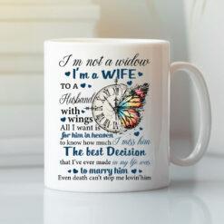 I'm Not A Window I'm A Wife To A Husband With Wings Mug