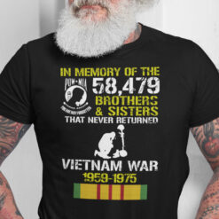 In Memory Of The 58479 Brothers And Sisters Vietnam Veterans War Shirt